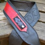 hitched guitar strap